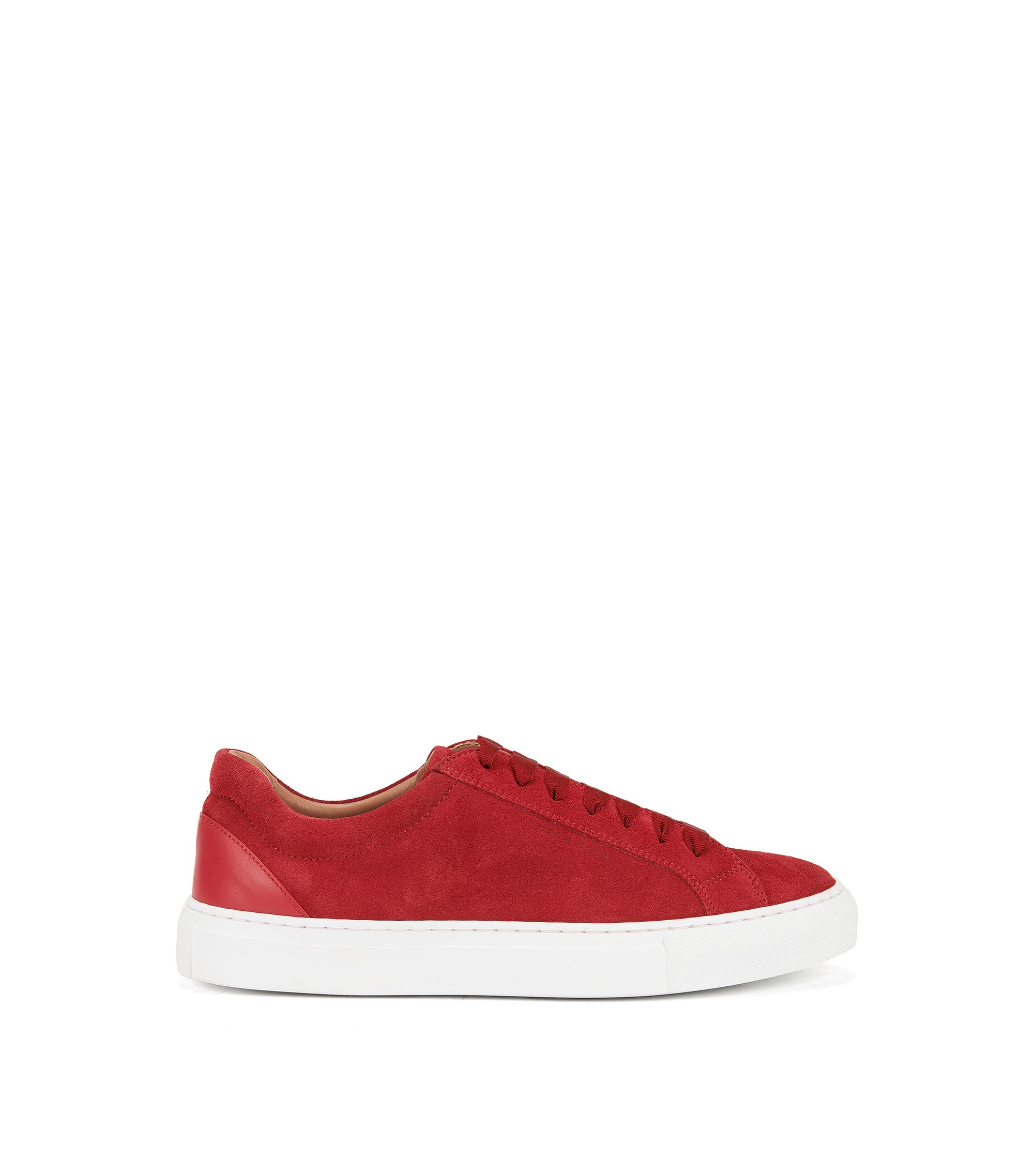 Suede Sneaker | Low Cut S, Red