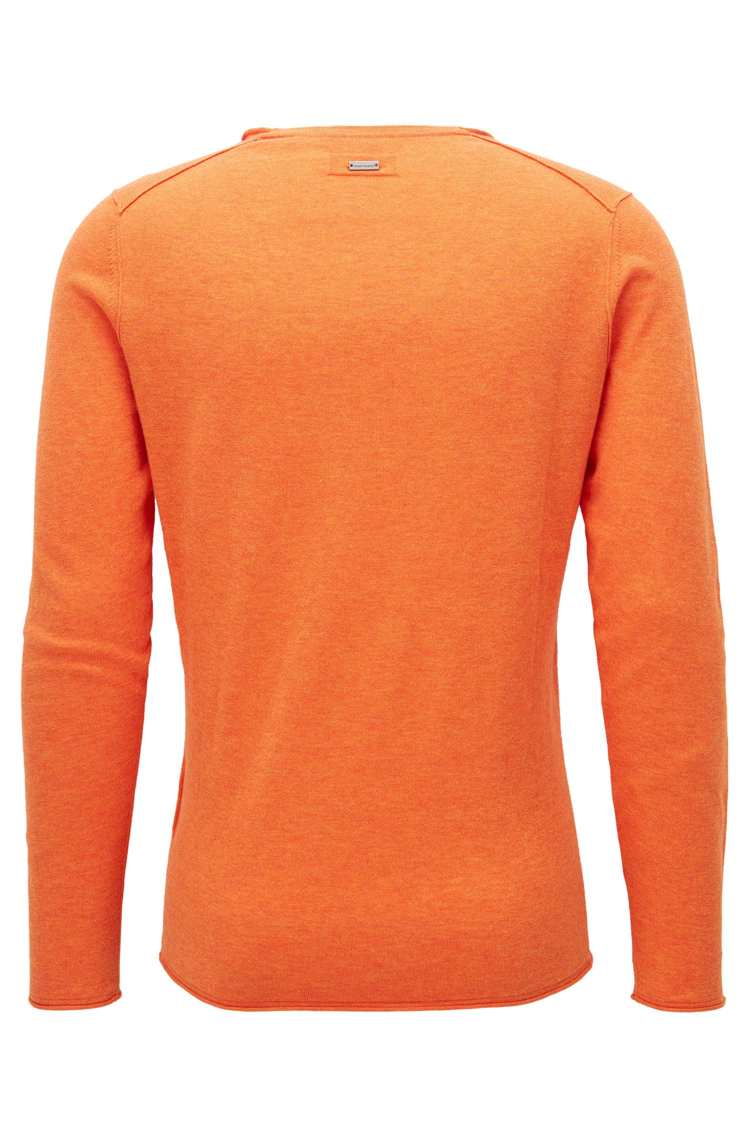 Heathered Cotton Sweater, Slim Fit | Kamiro