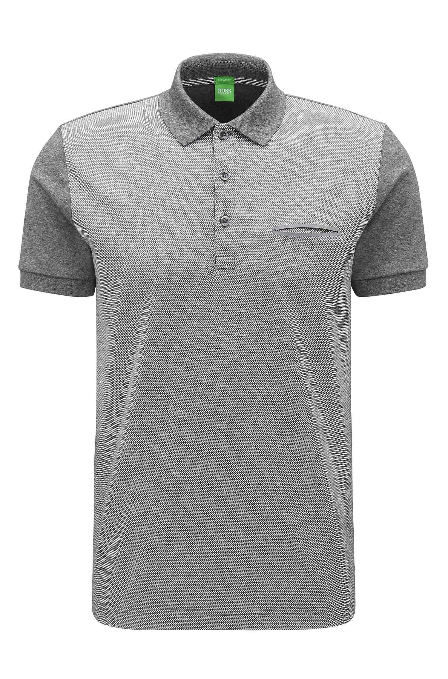 'C-Firenze'   Regular Fit, Gradient Striped Cotton Polo