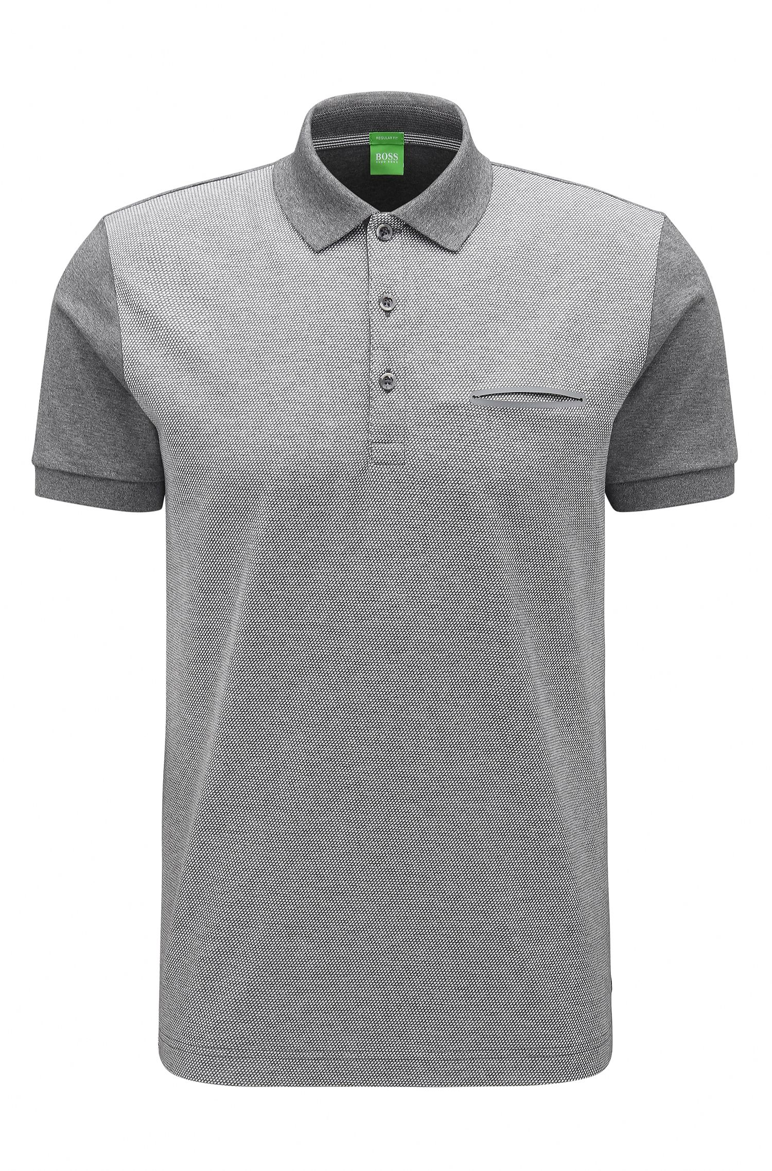 Gradient Striped Cotton Polo, Regular Fit | C-Firenze
