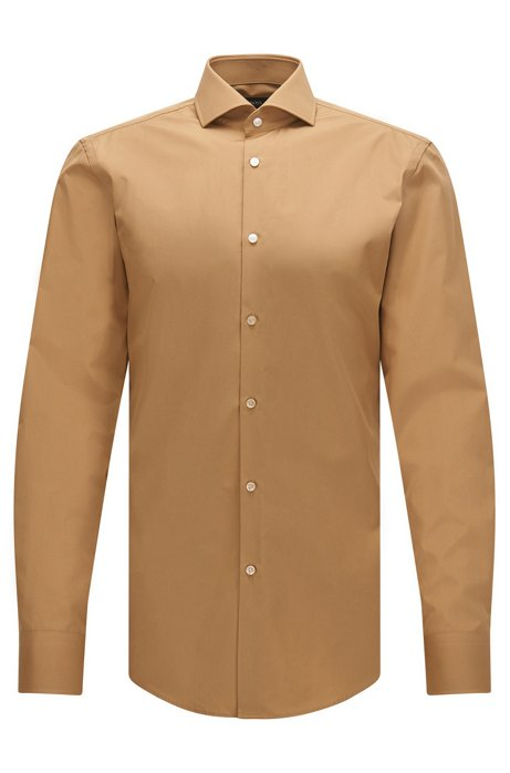 Boss 2 ply cotton dress shirt slim fit jason for 2 ply cotton dress shirt