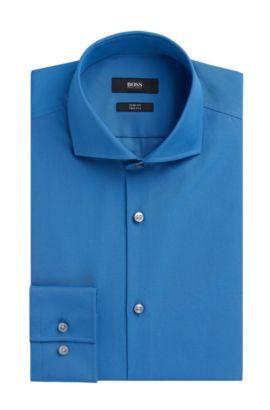 2-Ply Cotton Dress Shirt, Slim Fit | Jason, Open Blue
