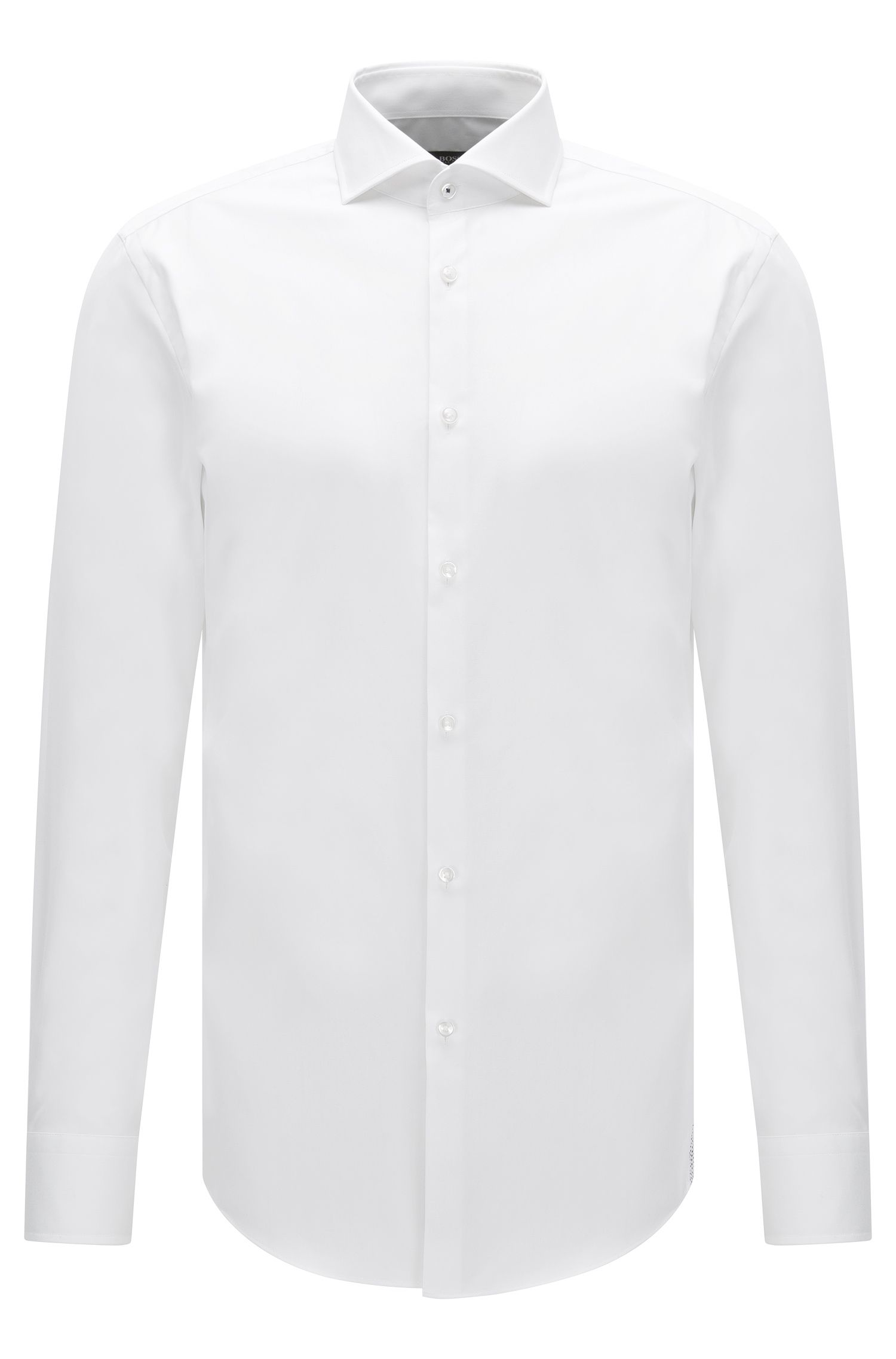 Easy Iron Italian Cotton Dress Shirt, Slim Fit  | Jerrin