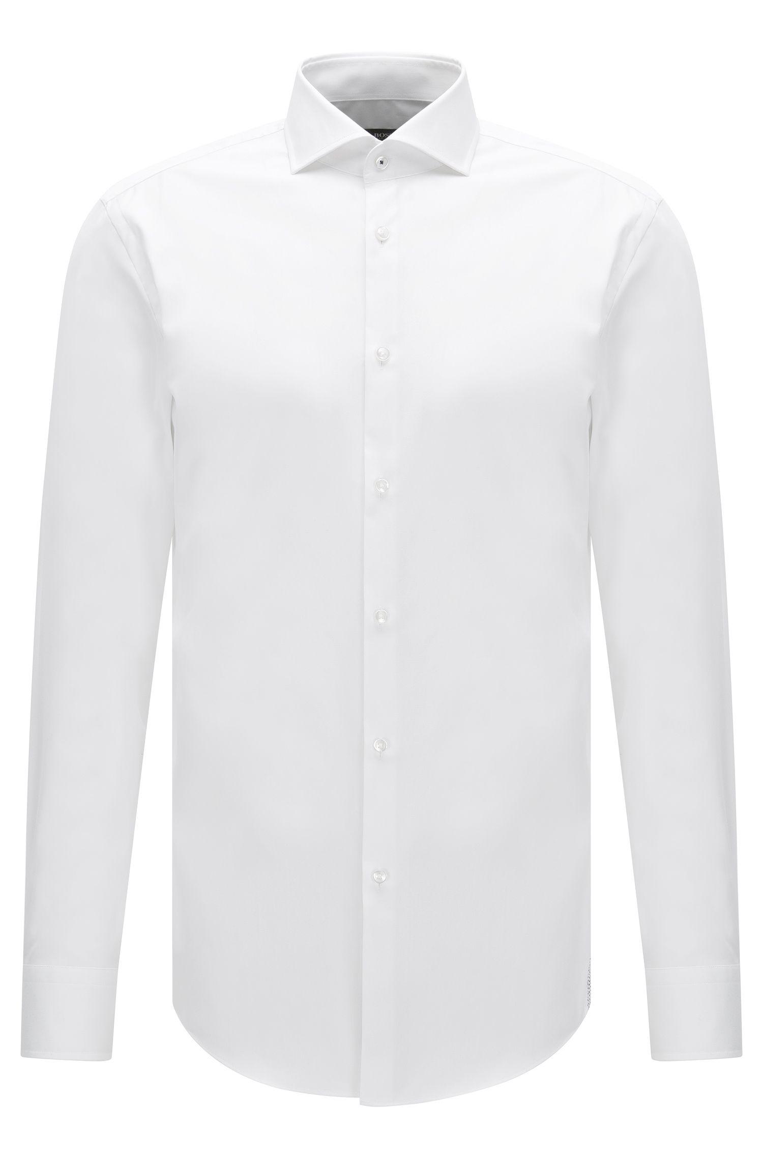 Easy Iron Italian Cotton Dress Shirt, Slim Fit  | Jerrin