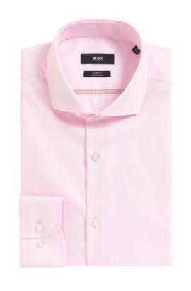 Easy Iron Italian Cotton Dress Shirt, Slim Fit  | Jerrin, light pink