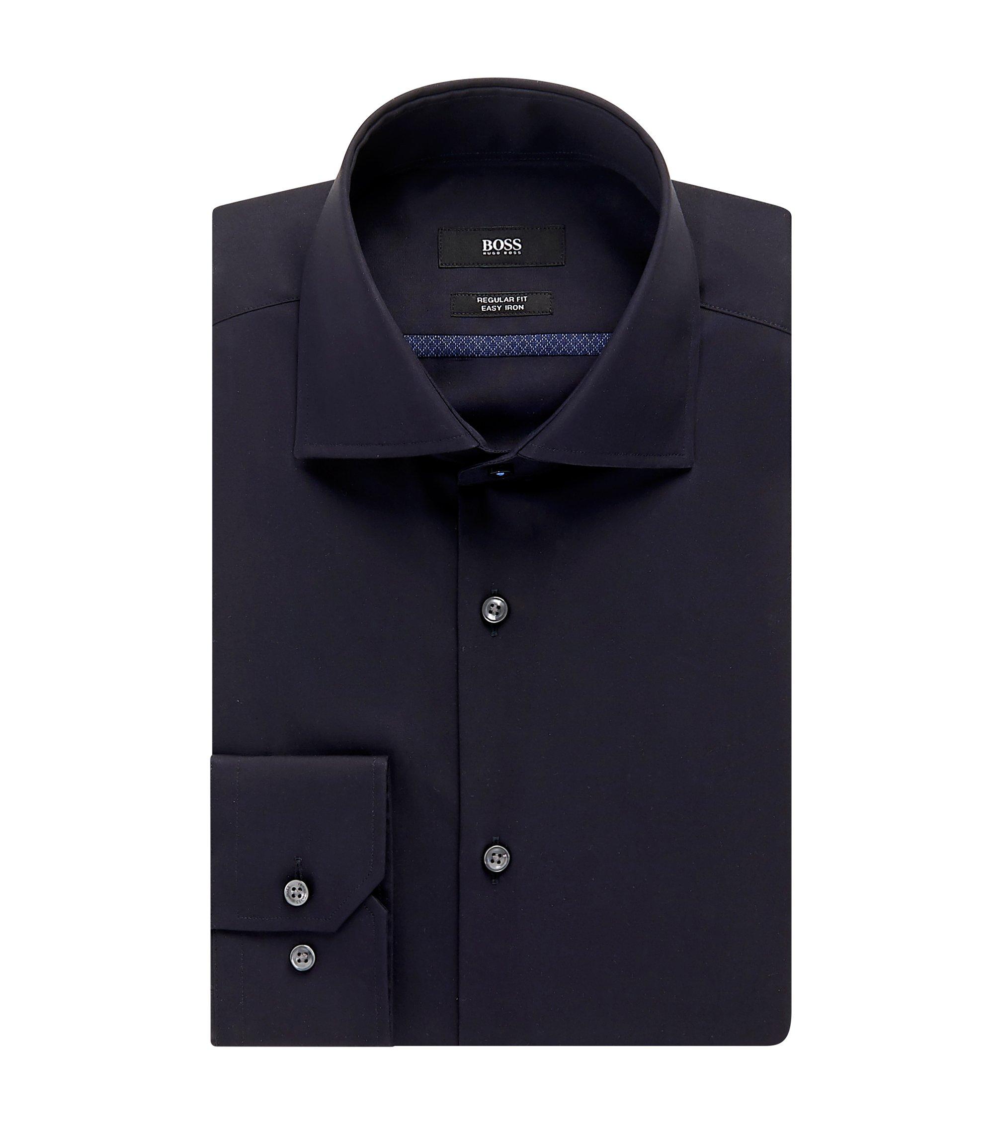 Easy Iron Cotton Dress Shirt, Regular Fit | Gert , Dark Blue