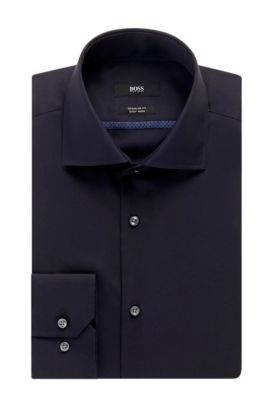 Easy Iron Cotton Dress Shirt, Regular Fit | Gert , Dark Blue