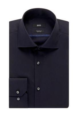 Easy-Iron Cotton Dress Shirt, Regular Fit | Gert , Dark Blue