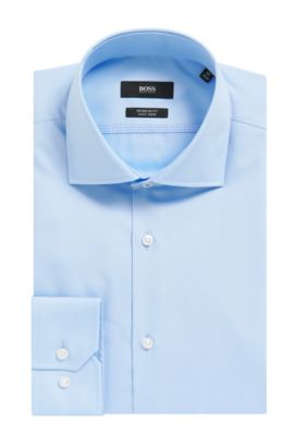 Easy-Iron Cotton Dress Shirt, Regular Fit | Gert , Light Blue