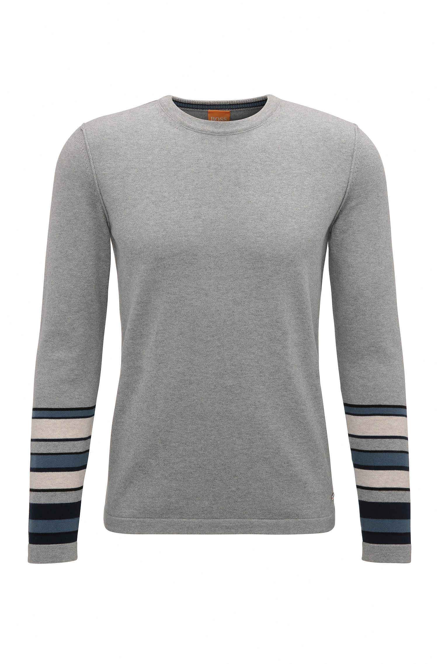 Block Stripe Cotton Sweater | Astrygan