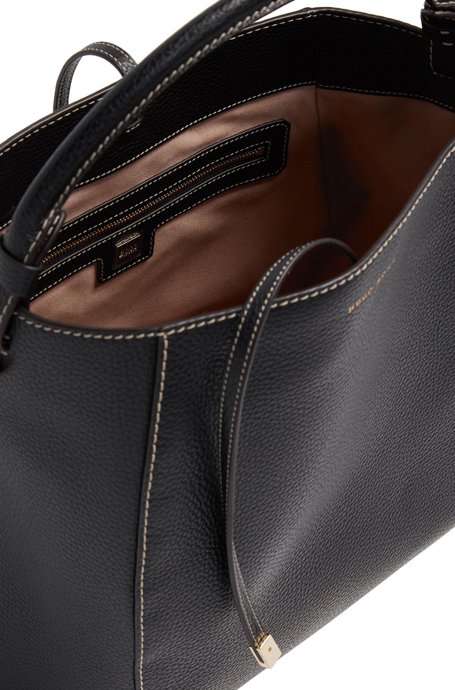 Leather Bag | Soft Drawstring, Black