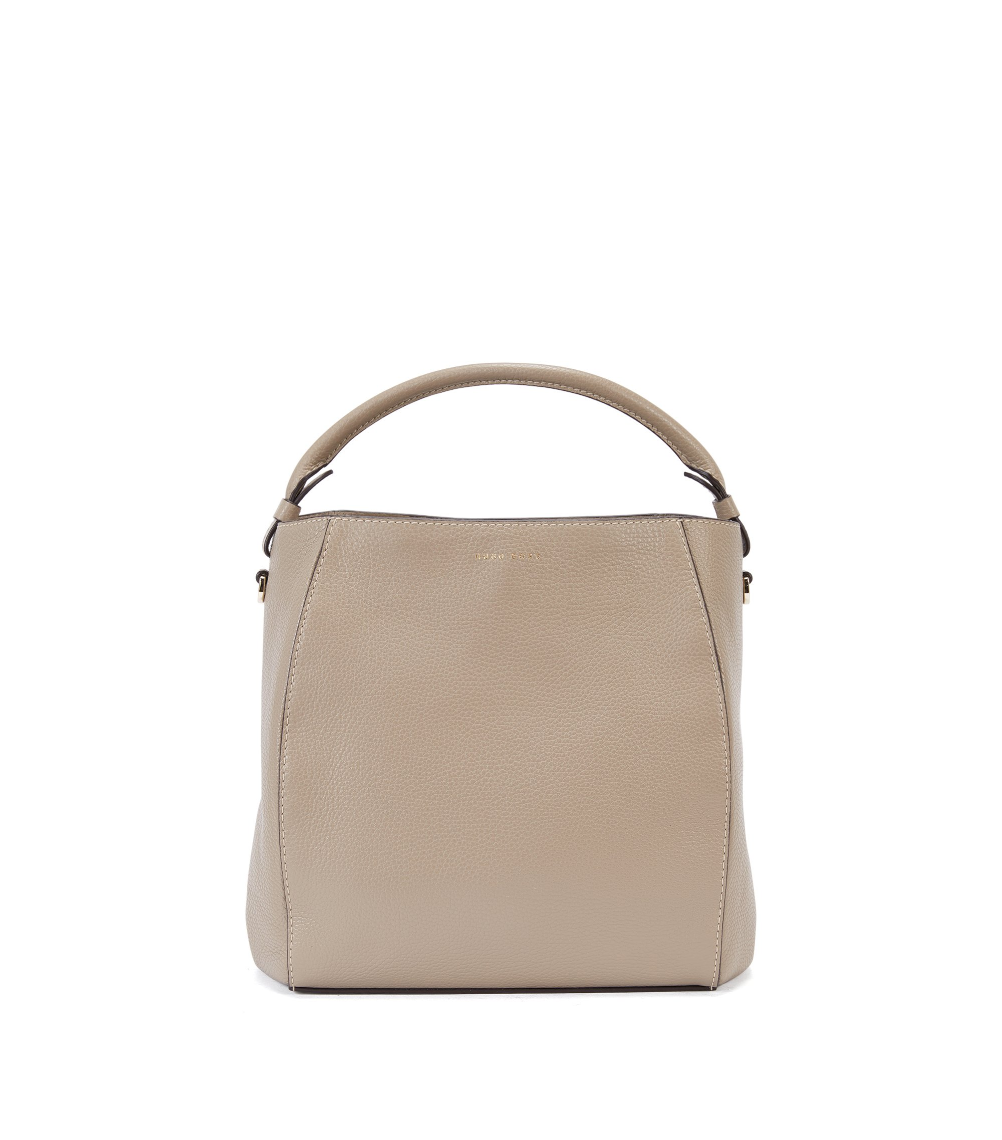 Leather Bag | Soft Drawstring, Beige