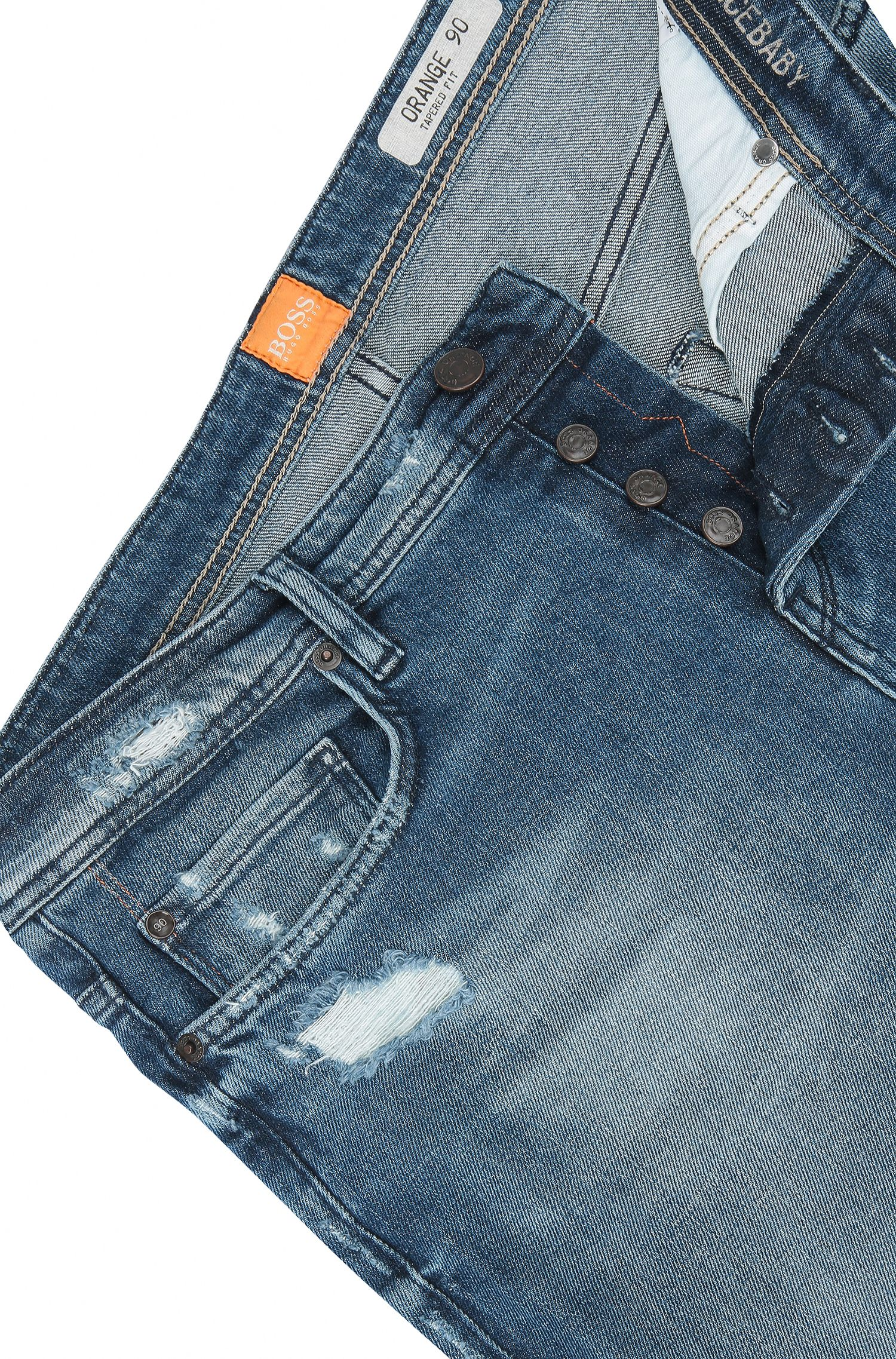 Stretch Cotton Jean, Tapered Fit | Orange90, Blue