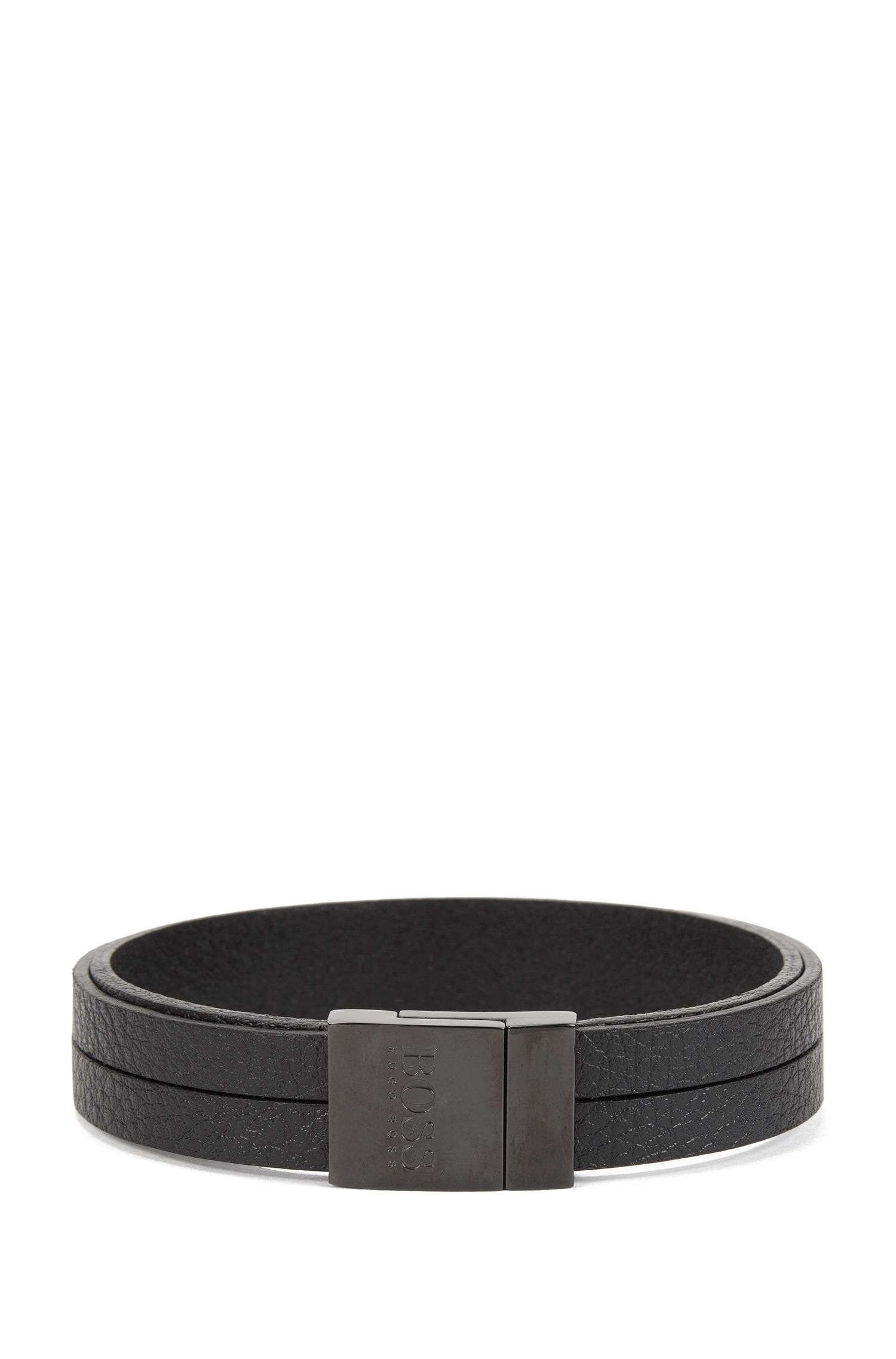 Braided Leather Bracelet | Bastiano, Black