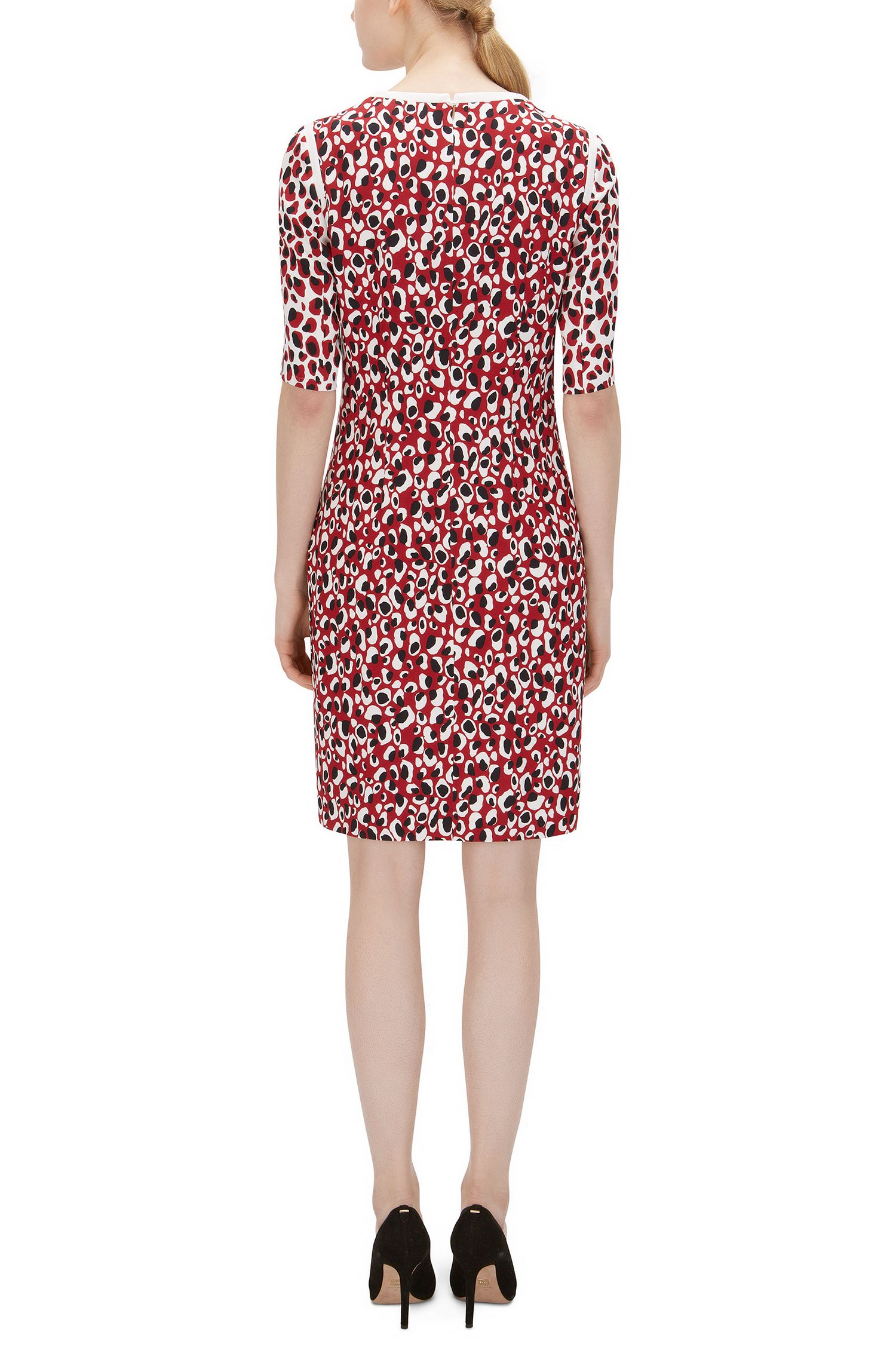 Leopard Print Stretch Dress | Desima, Patterned