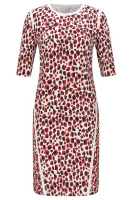 'Desima' | Leopard-Print Stretch Dress, Patterned