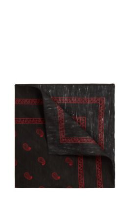'Bandana 43 x 43 cm' | Cotton Linen Bandana, Red