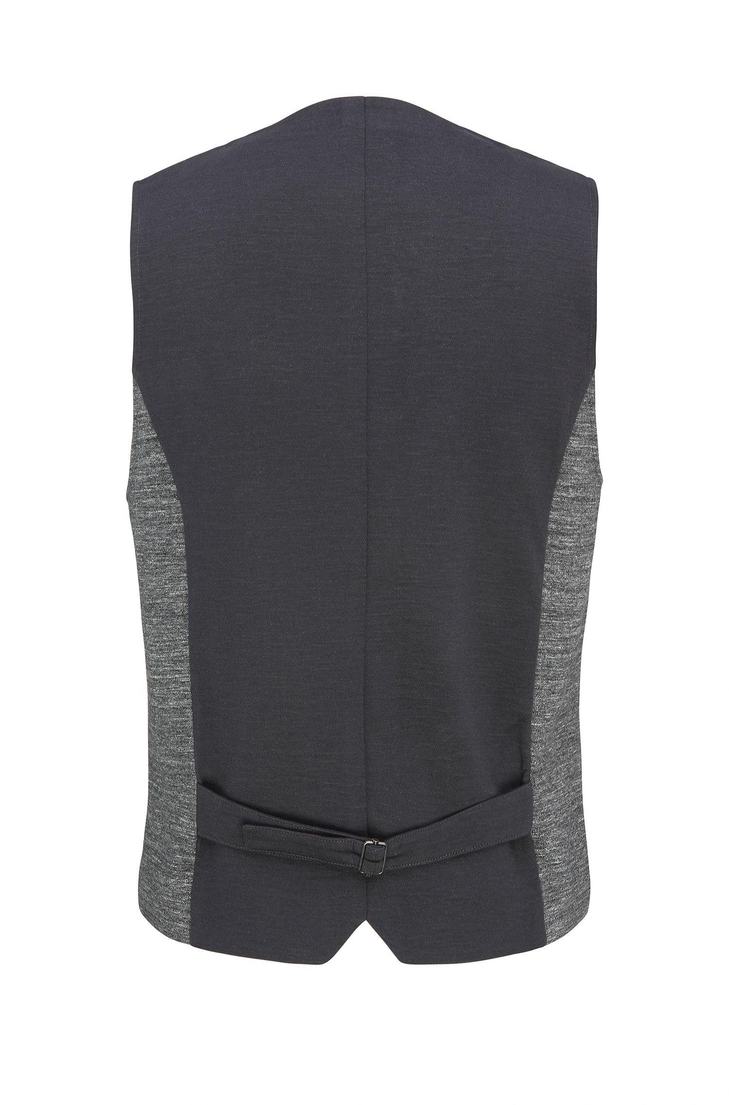 Stretch Cotton Blend Waistcoat, Slim Fit | Wutang