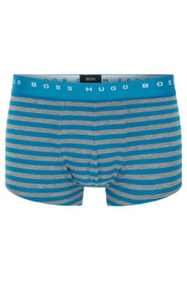 'Trunk Block Stripes' | Stretch Cotton Striped Trunks, Open Blue