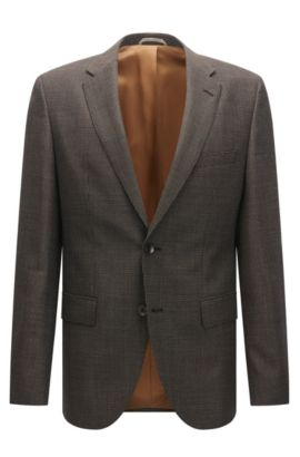 Nailhead Italian Virgin Wool Sport Coat, Regular Fit | Jeen, Beige