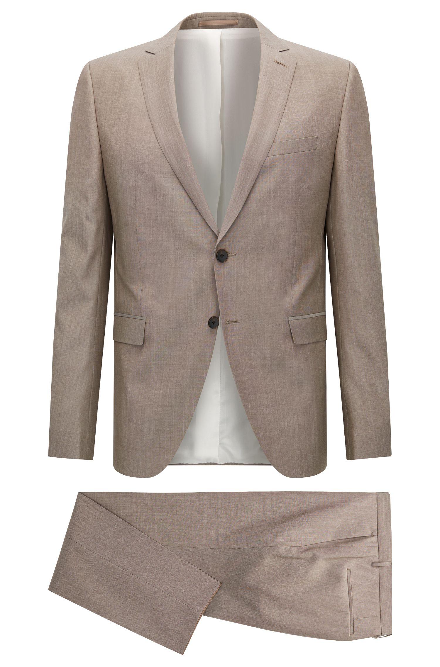 Heathered Virgin Wool Suit, Extra Slim Fit | Reymond/Wenton