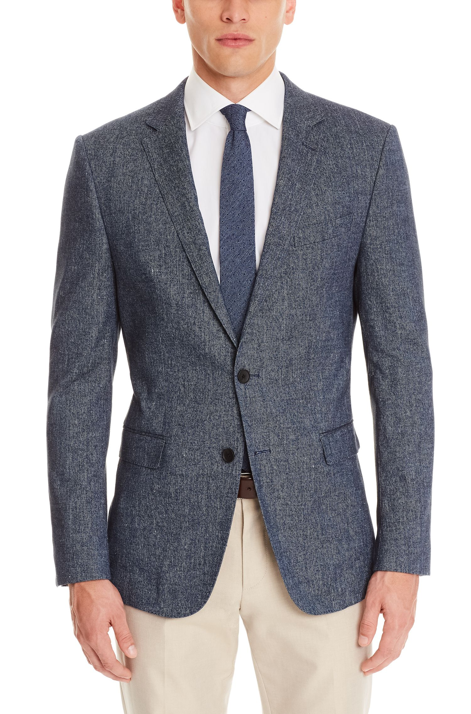 Stretch Cotton Linen Sport Coat, Slim Fit | Nobis