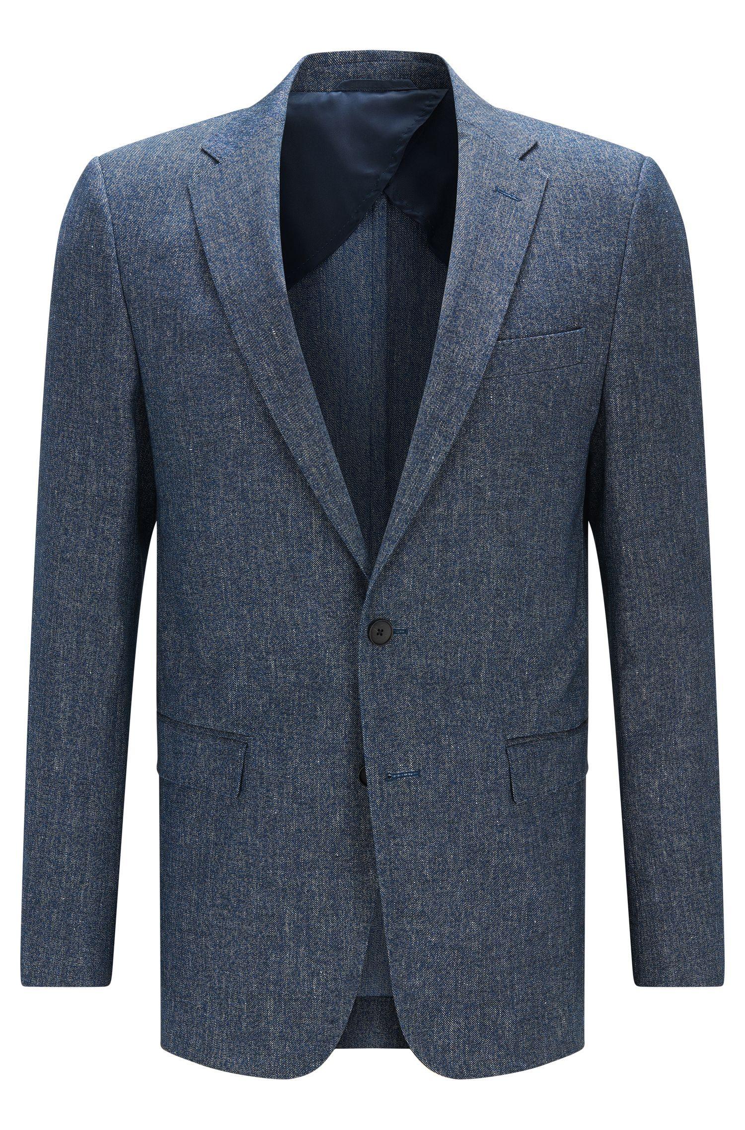 Stretch Cotton Linen Sport Coat, Slim Fit   Nobis