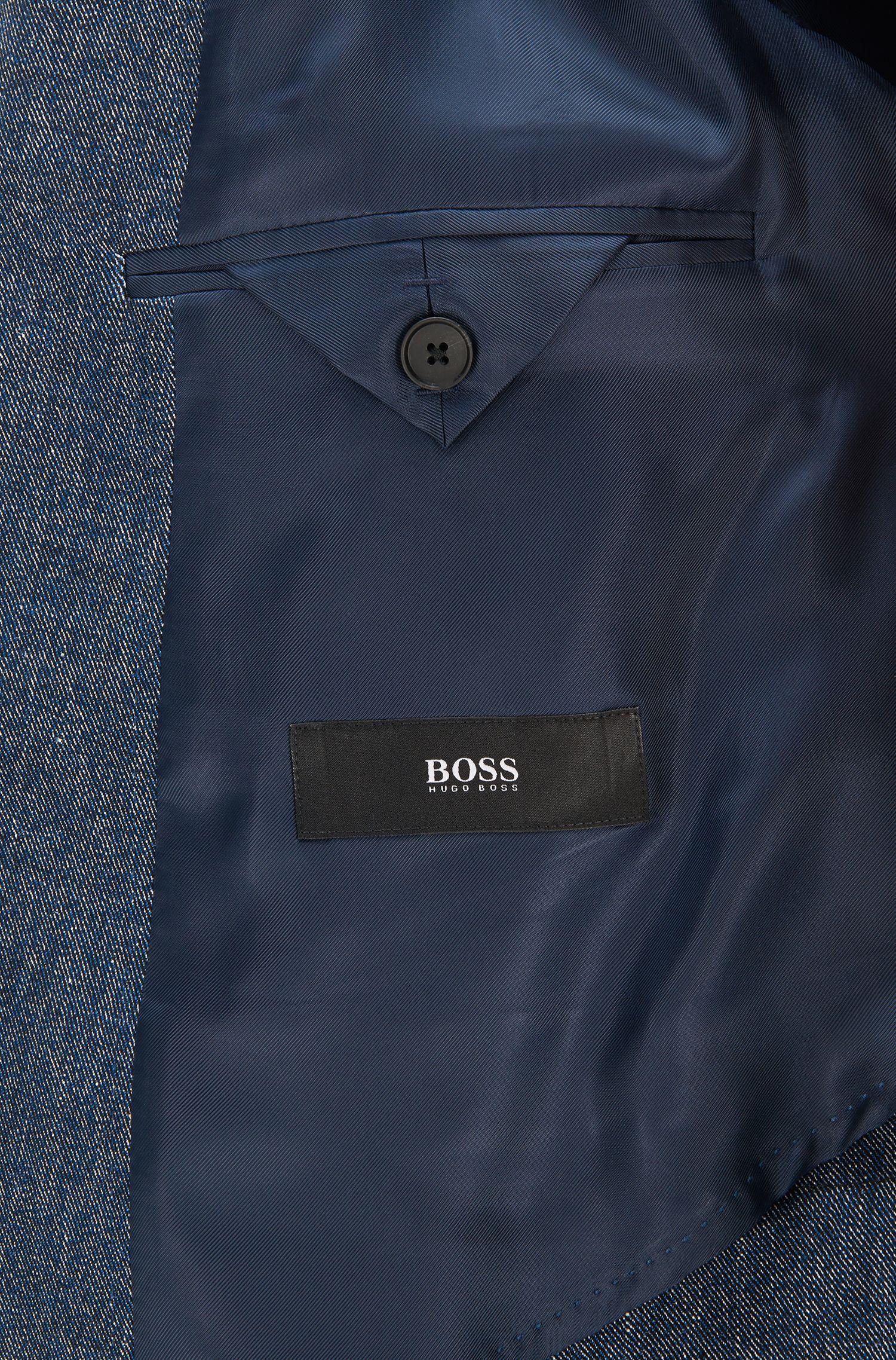 Stretch Cotton Linen Sport Coat, Slim Fit | Nobis, Blue