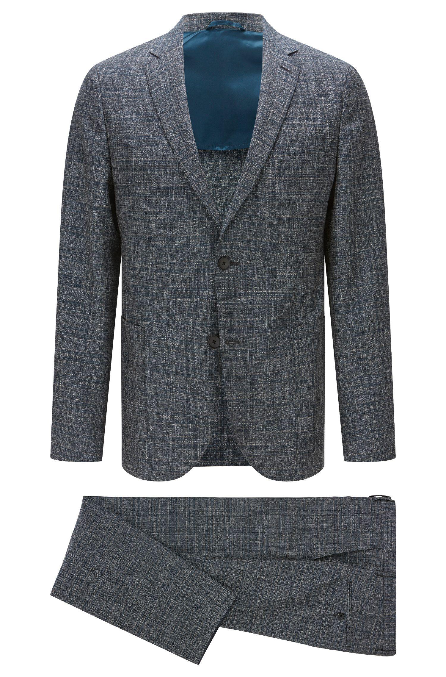 Virgin Wool Blend Suit, Slim Fit | Nalton/Bennno