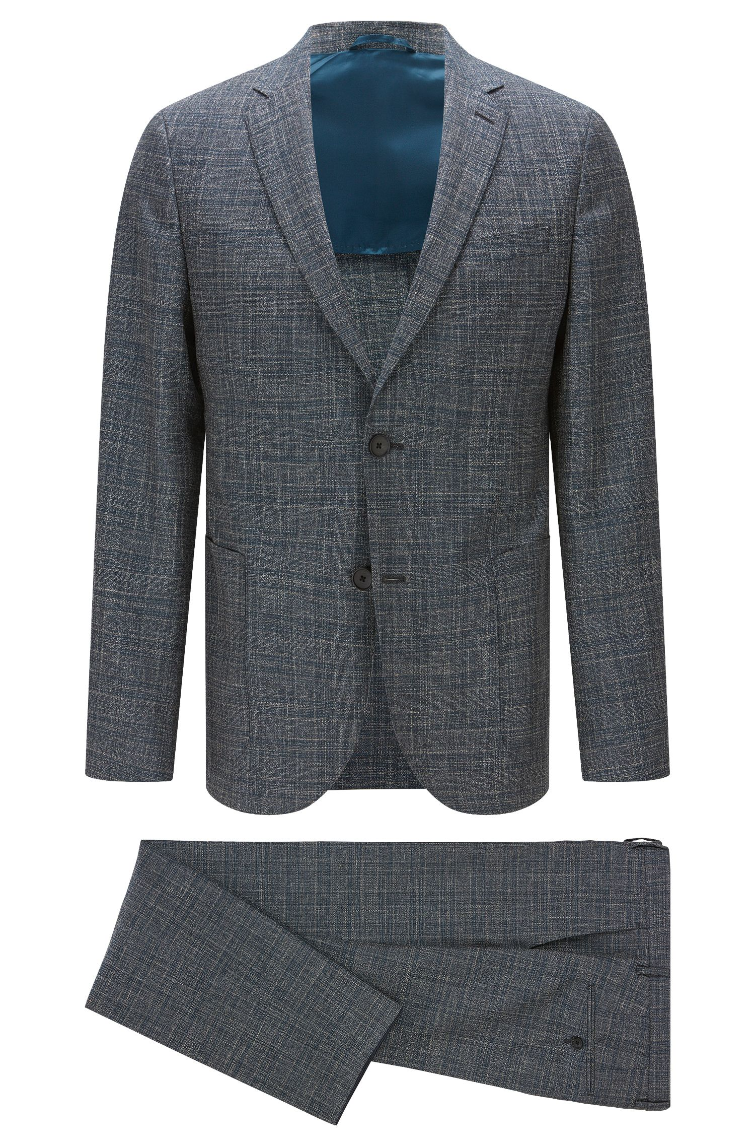 Virgin Wool Blend Suit, Slim Fit | Nalton/Bennno