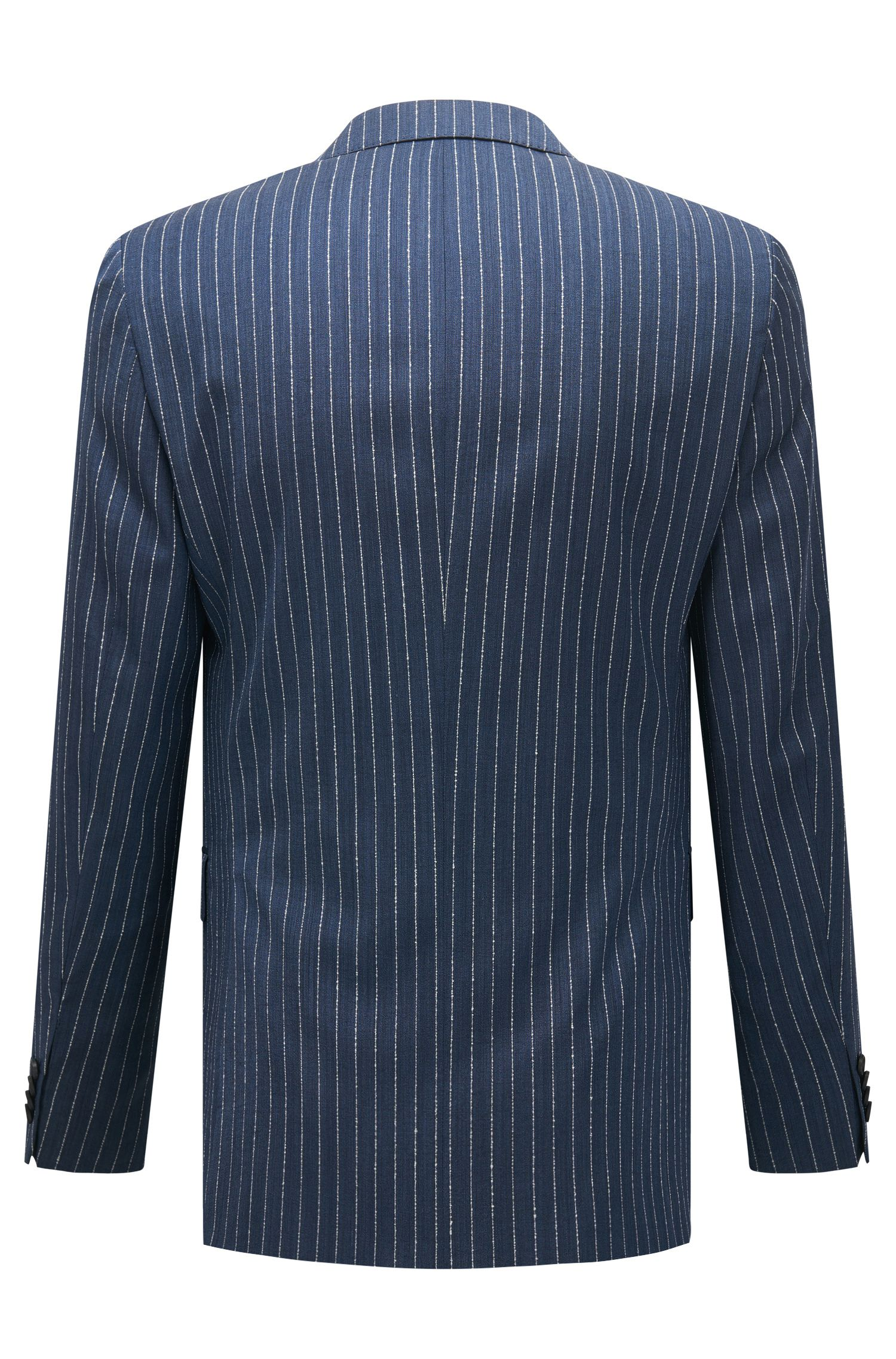 Pinstripe Virgin Wool Suit, Slim Fit | Novan/Ben