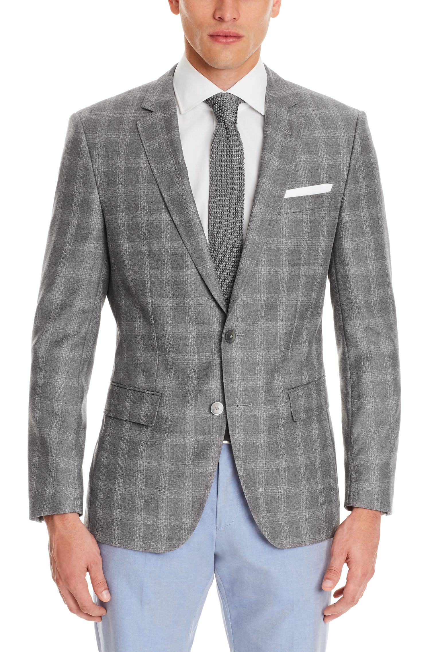 Windowpane Italian Virgin Wool Sport Coat, Slim Fit | Hutsons