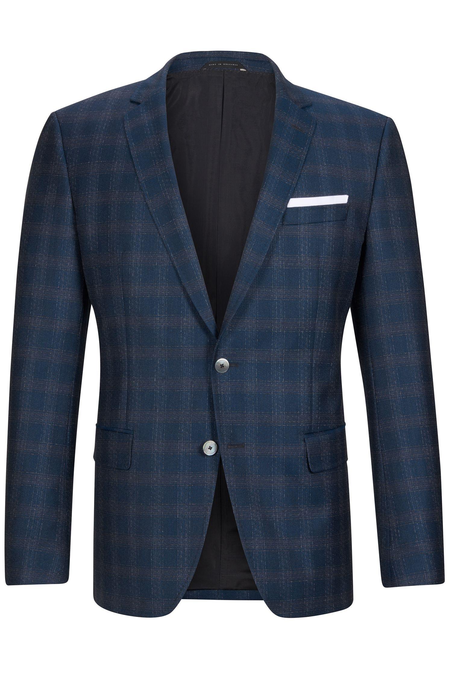 'Hutson' | Slim Fit, Windowpane Italian Virgin Wool Sport Coat