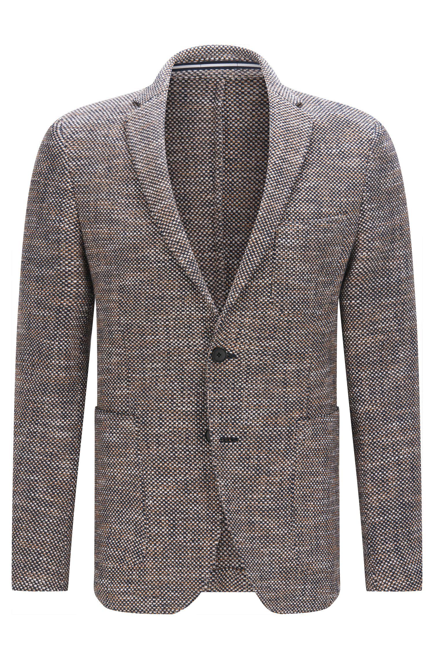 Cotton Blend Tweed Sport Coat, Slim Fit   Newon