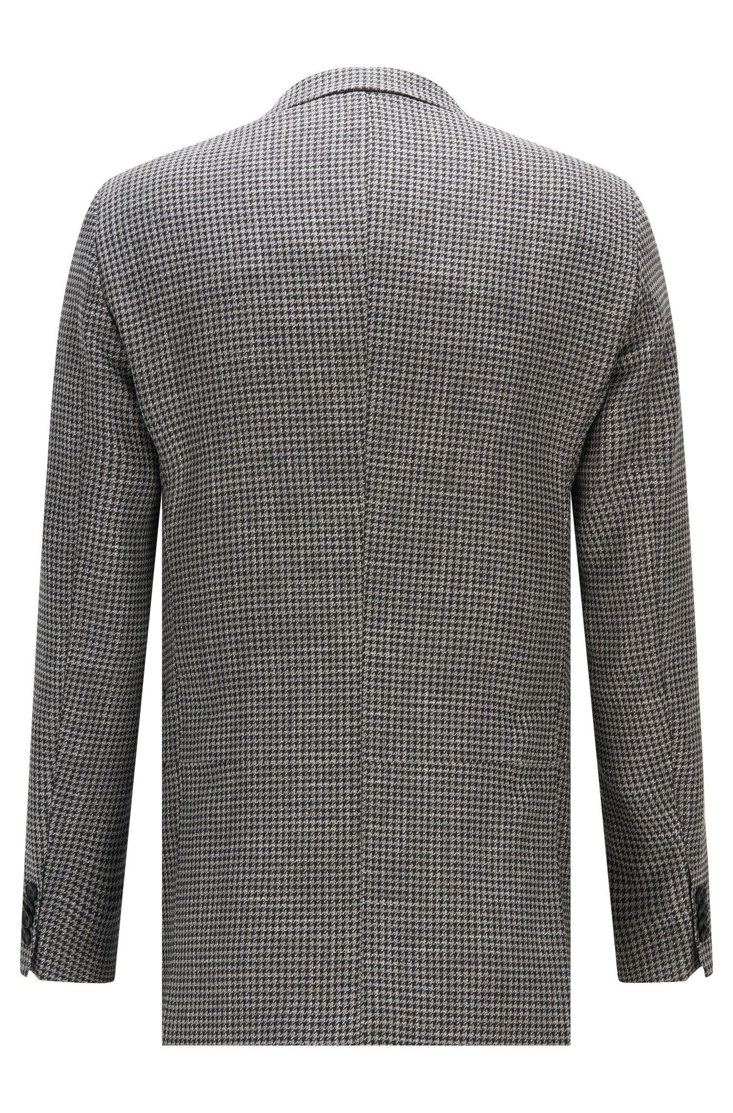Houndstooth Stretch Virgin Wool Sport Coat, Extra Slim Fit   Roan