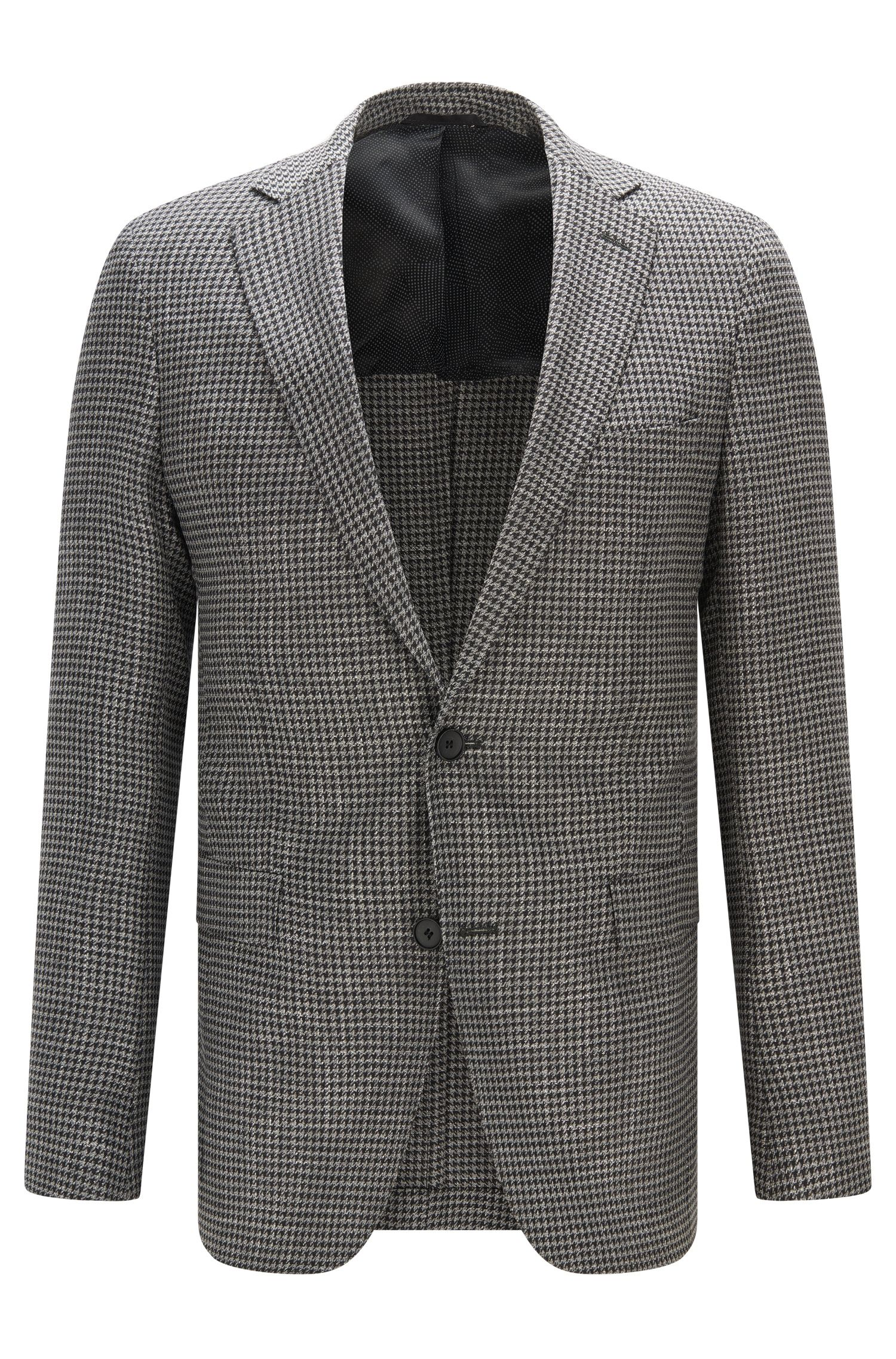 Houndstooth Stretch Virgin Wool Sport Coat, Extra Slim Fit | Roan