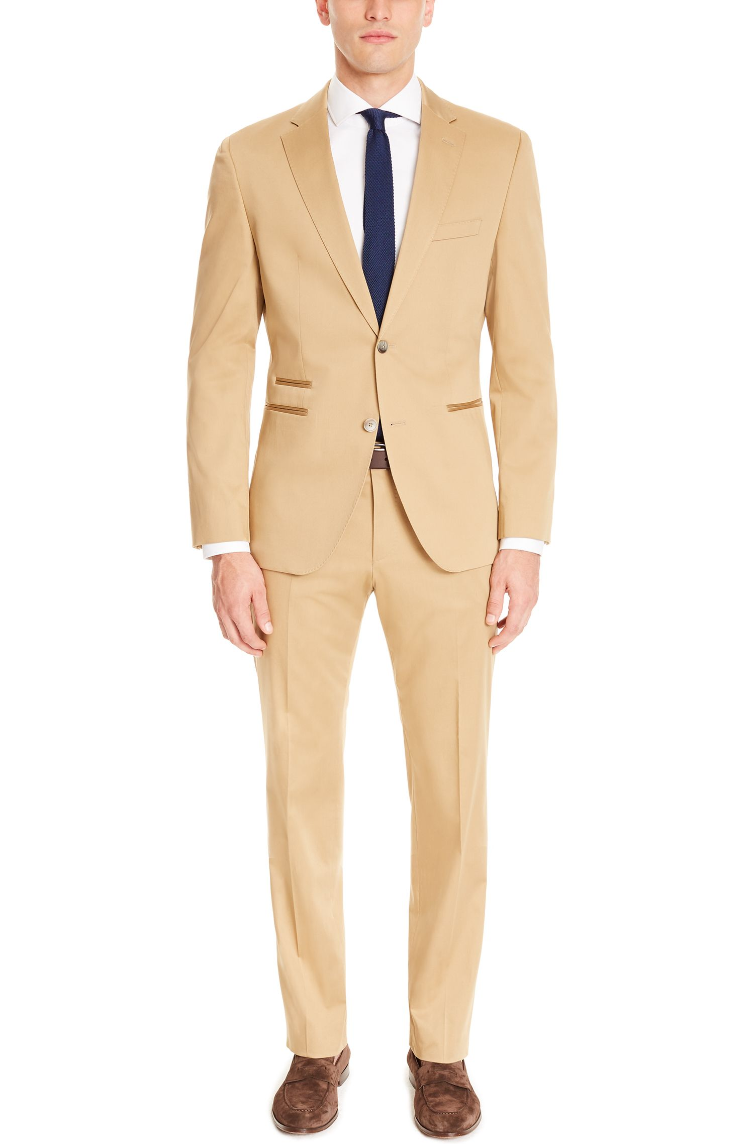 Stretch Pima Cotton Suit, Regular Fit   Jilman/Leran