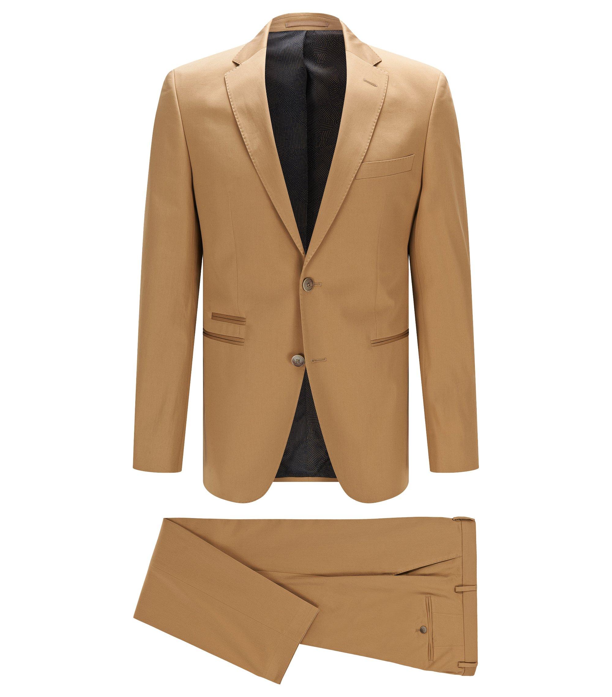 Stretch Pima Cotton Suit, Regular Fit | Jilman/Leran, Beige