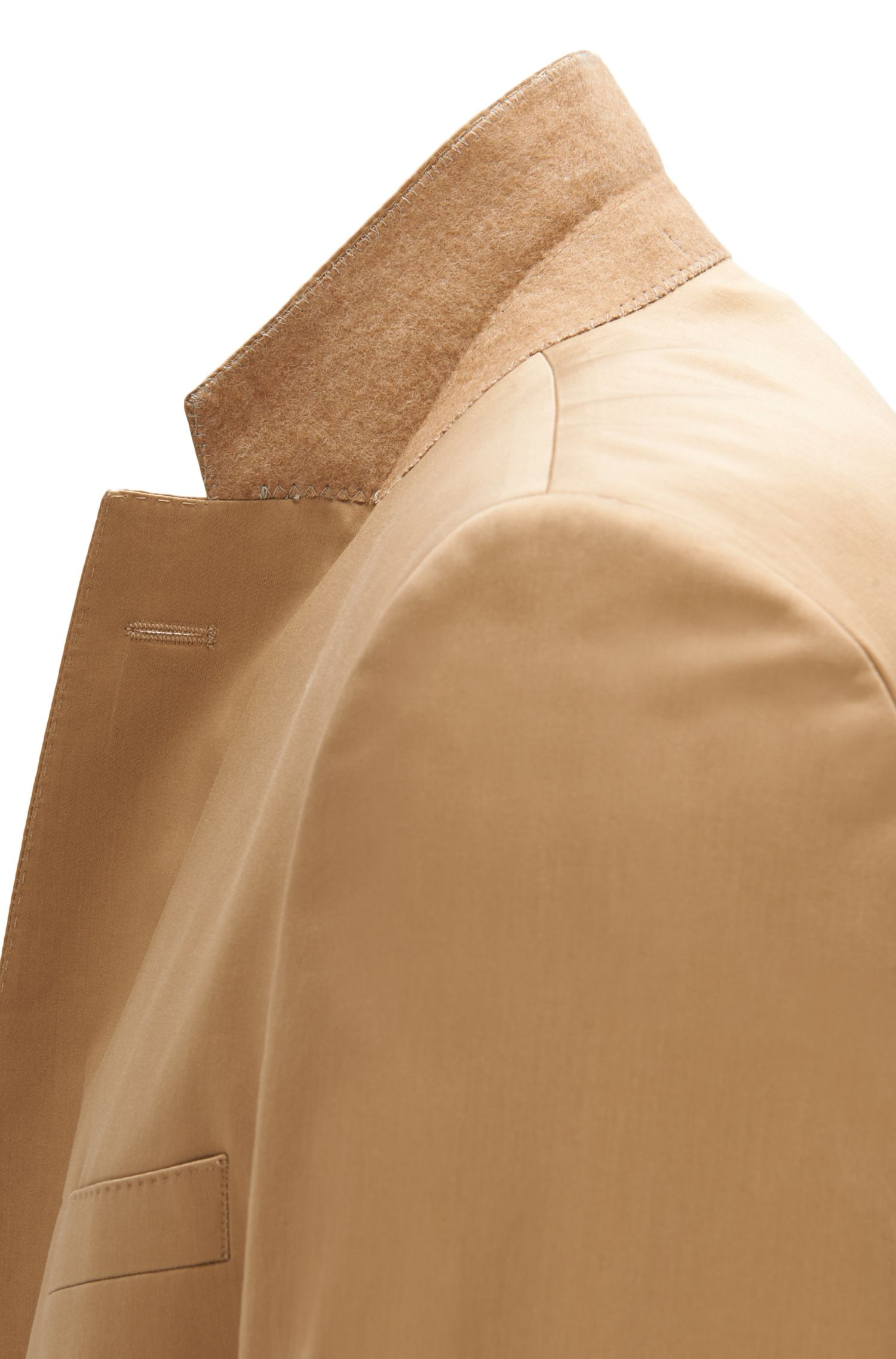 Stretch Pima Cotton Suit, Regular Fit | Jilman/Leran, Beige
