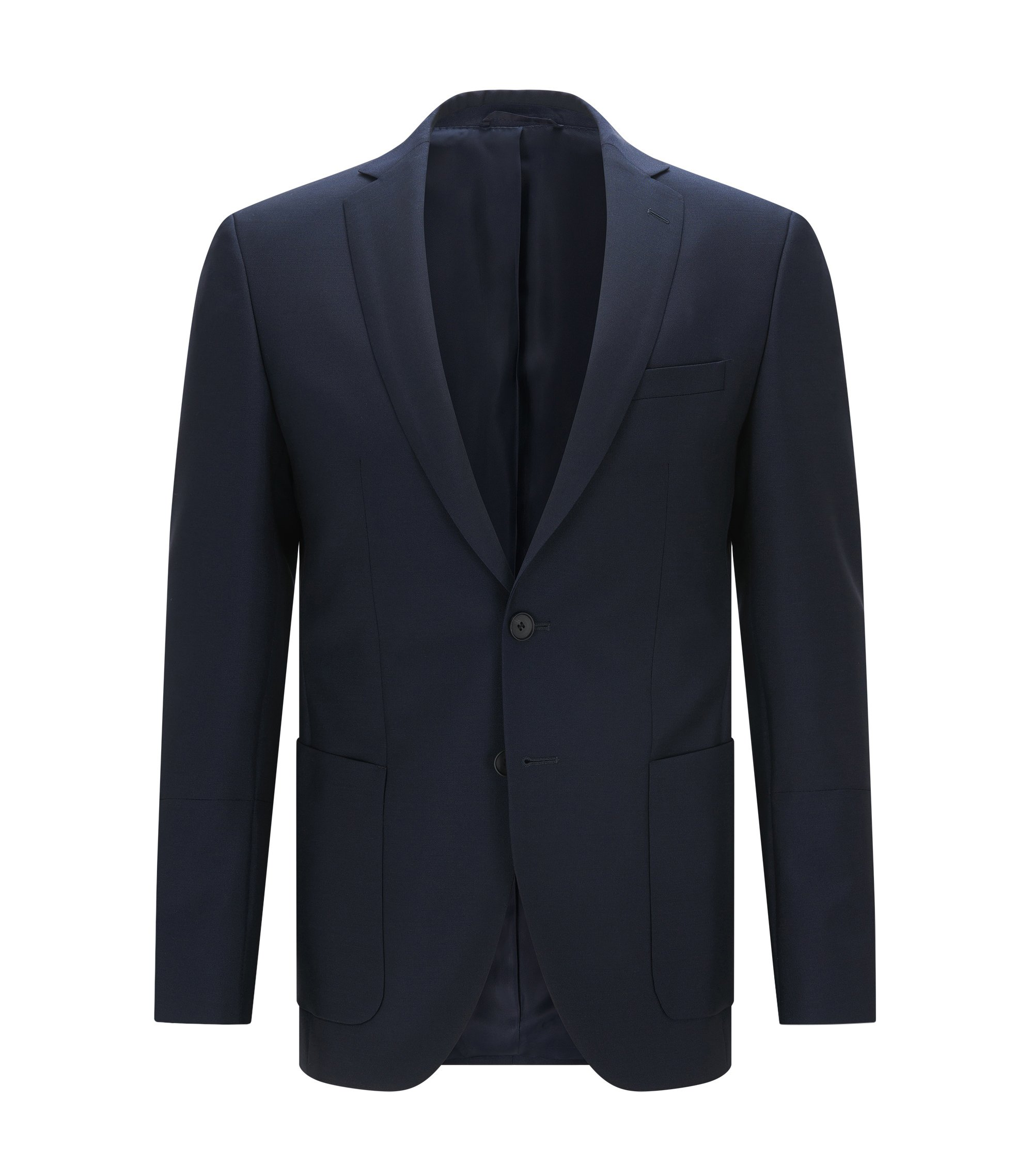 Virgin Mohair Sport Coat, Extra Slim Fit   Rodwil, Dark Blue