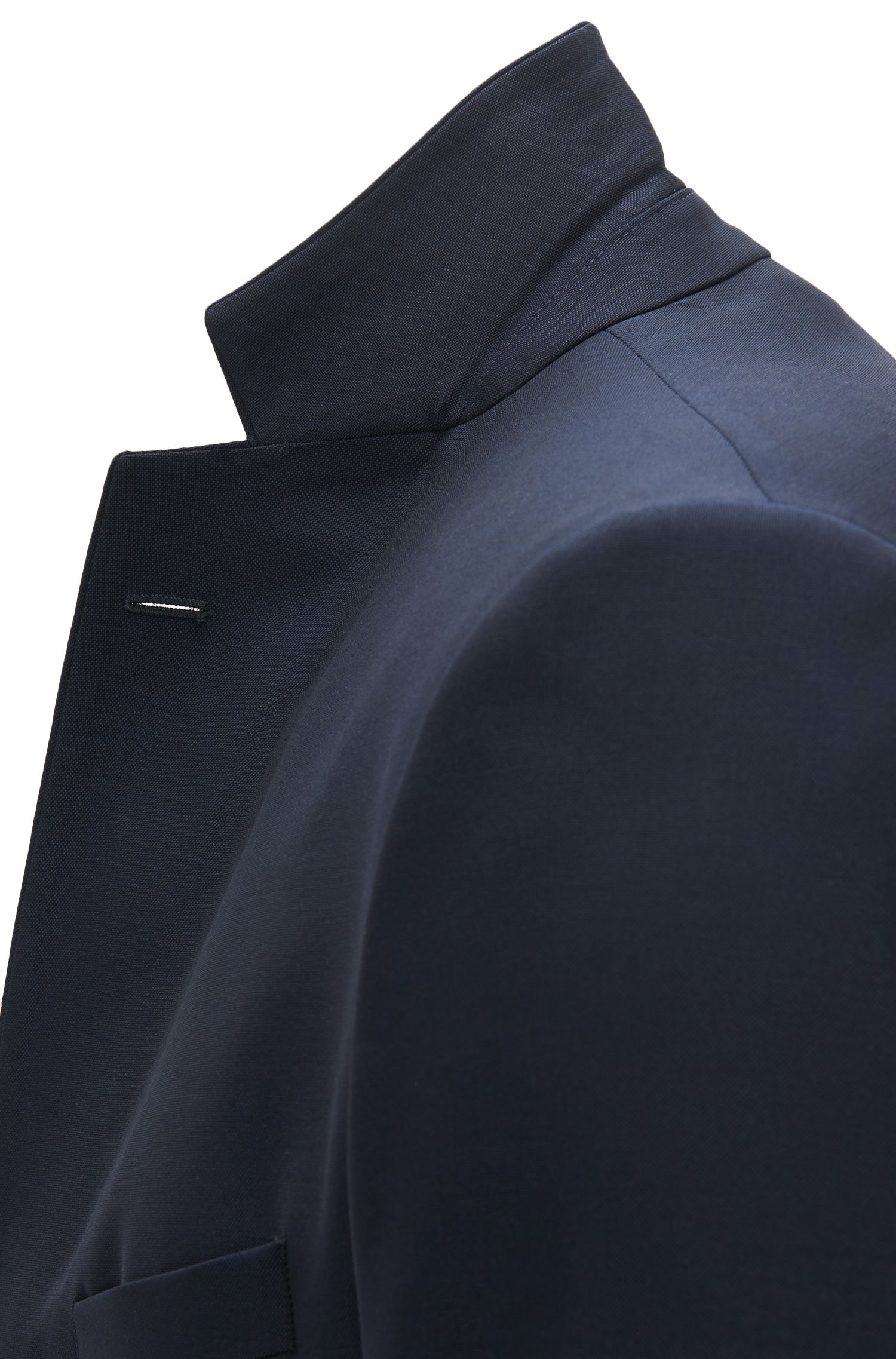 Virgin Mohair Sport Coat, Extra Slim Fit | Rodwil, Dark Blue
