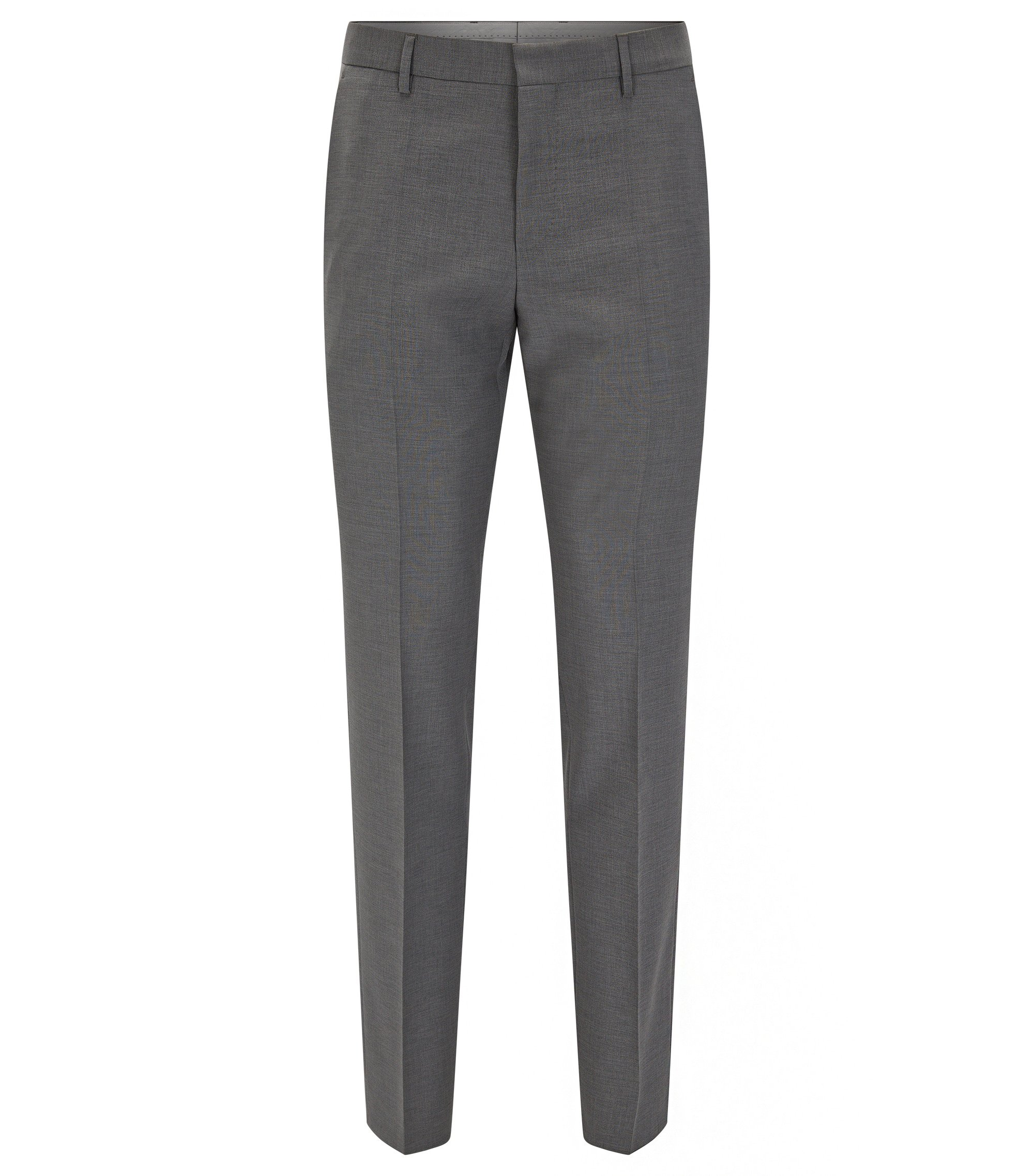 Virgin Wool Dress Pant, Slim Fit | Balte, Grey