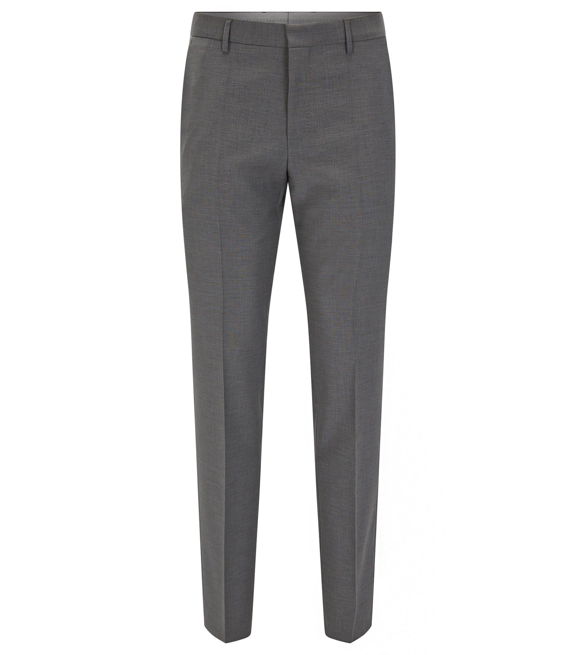 Virgin Wool Dress Pant, Slim Fit | Balte, Grey