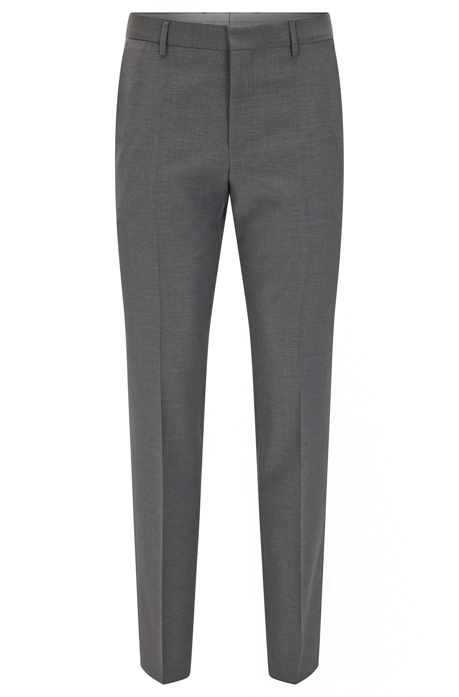 Virgin Wool Dress Pant, Slim Fit | Balte