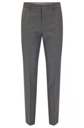 'Balte' | Slim Fit, Virgin Wool Dress Pant, Grey