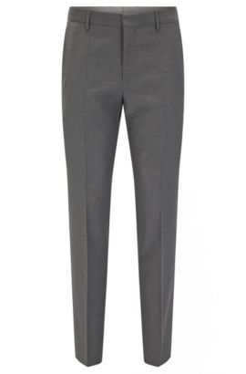 'Balte' | Slim Fit, Virgin Wool Dress Pant, Grey
