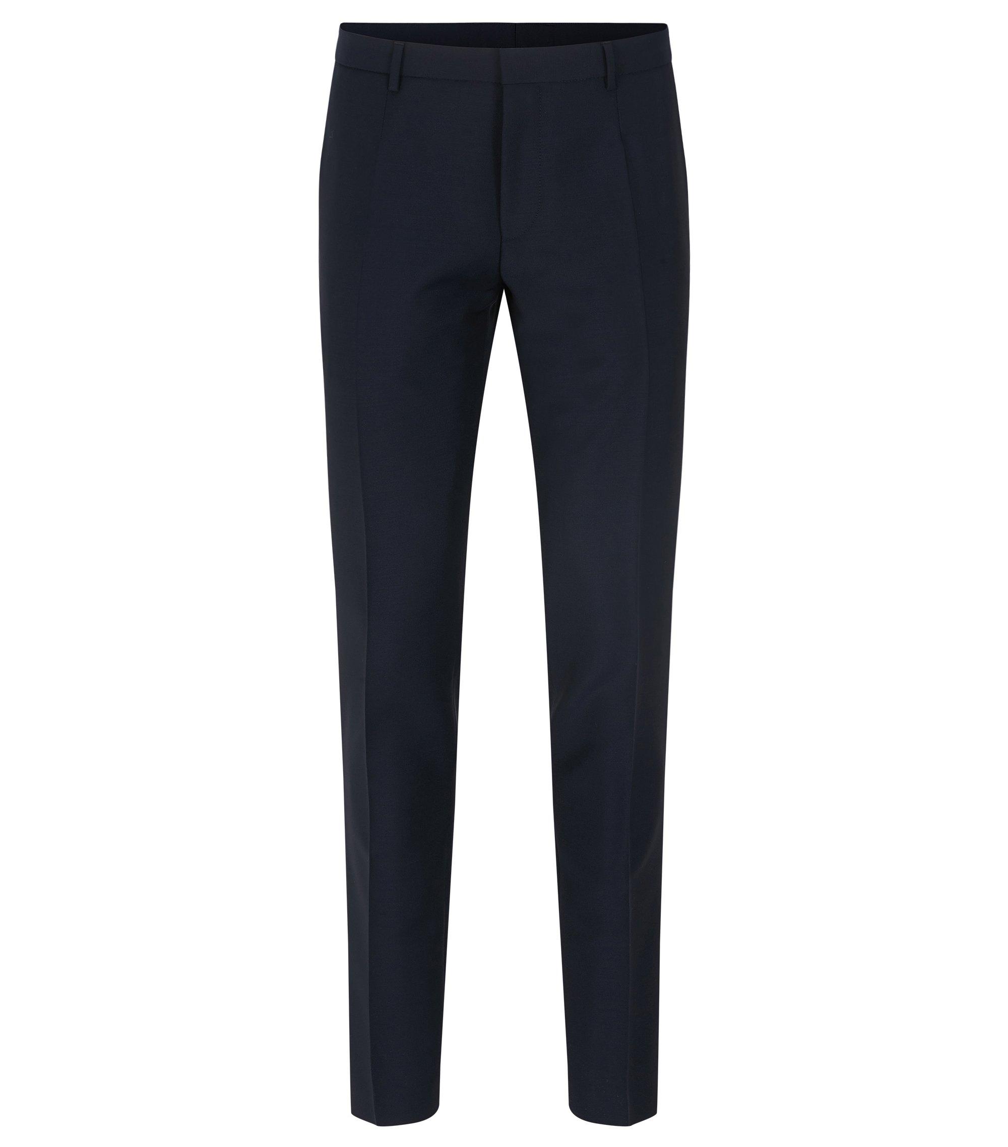 Virgin Wool Mohair Pant, Extra Slim Fit   Weikko, Dark Blue