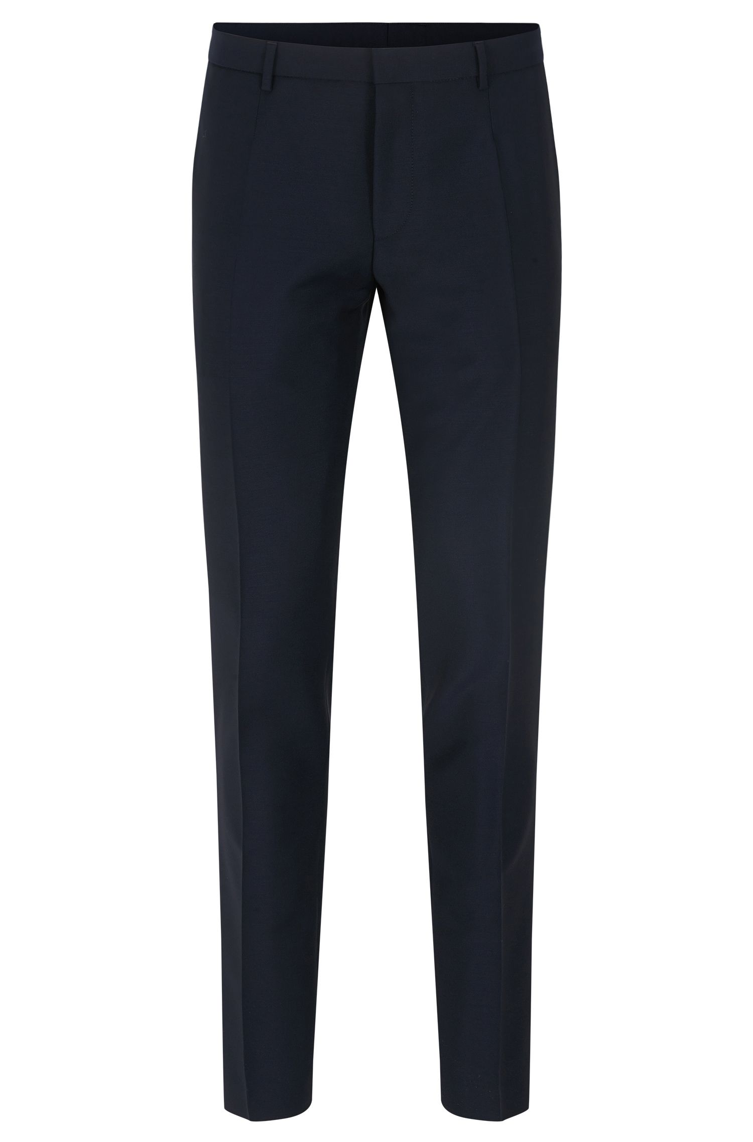 Virgin Wool Mohair Pant, Extra Slim Fit | Weikko, Dark Blue