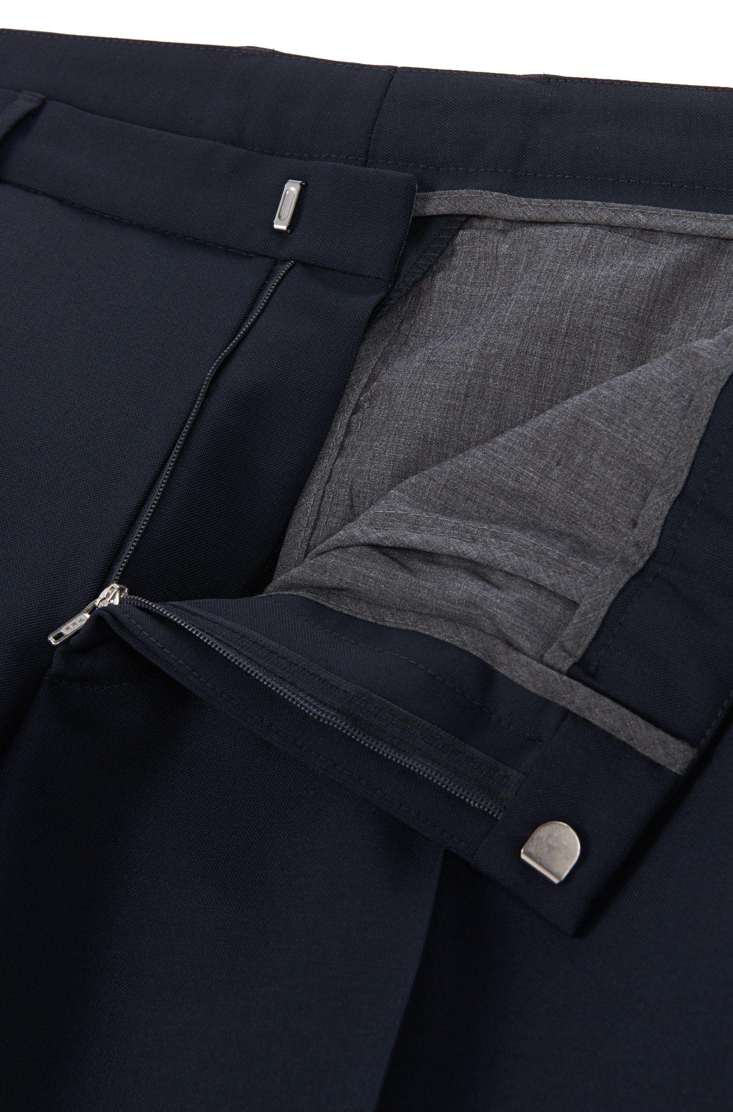 Virgin Wool Mohair Pant, Extra Slim Fit | Weikko, Dark Blue