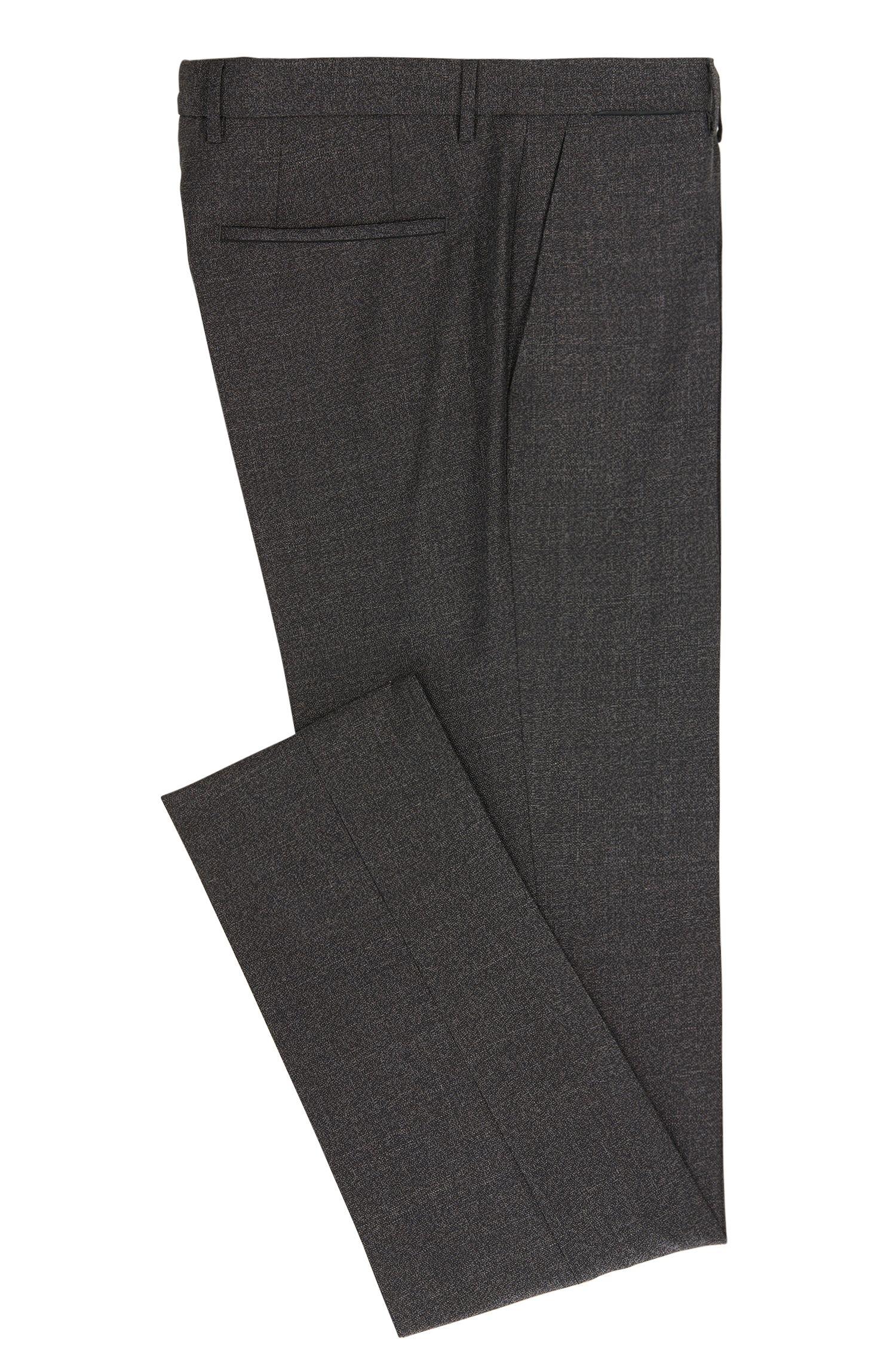 Virgin Wool Dress Pant, Slim Fit | T-Bloom, Open Grey